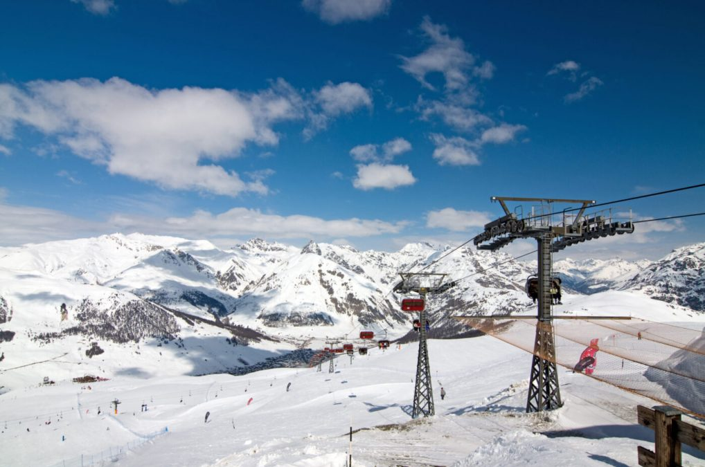 winter Alps in the Italian - Livigno
