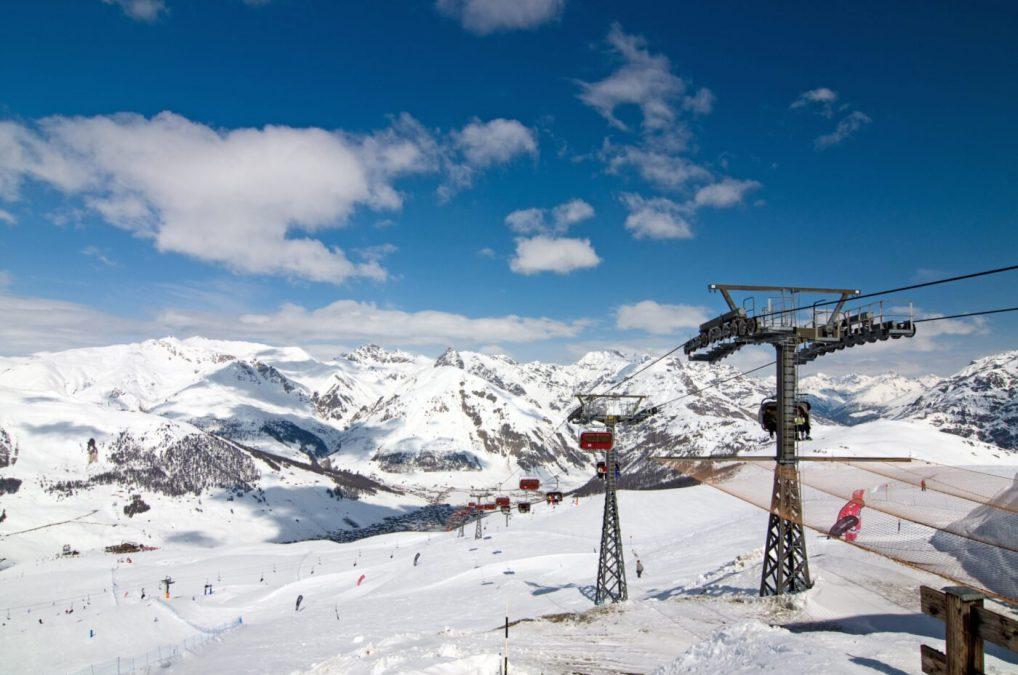 winter Alps in the Italian - Livigno